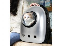 Pet Carrier Backpack - Silver